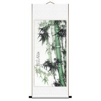 Asian Green Bamboo Wall Scroll Painting