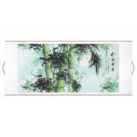 Modest Moonlit Bamboo Asian Wall Scroll Painting