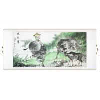 Boy Sitting on Ox Asian Scroll Painting